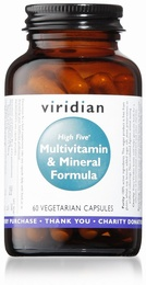 Viridian HIGH FIVE Multivitamin and Mineral Formula 60 Vegetable Capsules