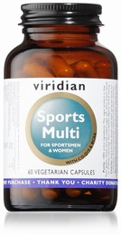 Viridian Sports Multi 60 Vegetable Capsules