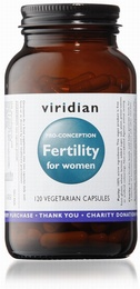 Viridian Fertility for Women 120 Vegetable Capsules