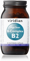 Viridian HIGH TWO Vitamin B2 with B-Complex 90 Vegetable Capsules