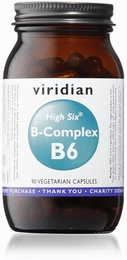 Viridian HIGH SIX Vitamin B6 with B-Complex 90 Vegetable Capsules