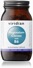 Viridian Magnesium Citrate with B6 90 Vegetable Capsules