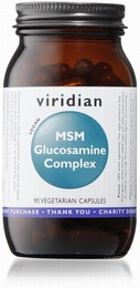 Viridian Glucosamine with MSM 90 Vegetable Capsules