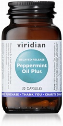 Viridian Peppermint Oil Plus 30 Vegetable Capsules