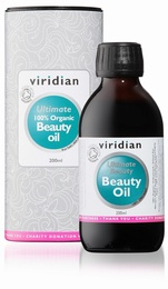 Viridian 100% Ultimate Beauty Oil  Organic 200ml