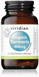 Viridian Turmeric Organic 400mg 30 Vegetable Capsules