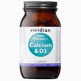 Viridian High Potency Calcium and Vitamin D - 90 Veg Caps